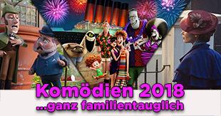 Die besten Komödien & CGI-Filme 2018