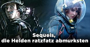 Sequels, die Helden ratzfatz sterben ließen