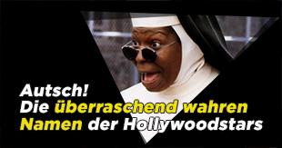 Die überraschenden wahren Namen der Hollywoodstars