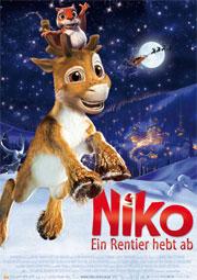 Niko, ein Rentier hebt ab