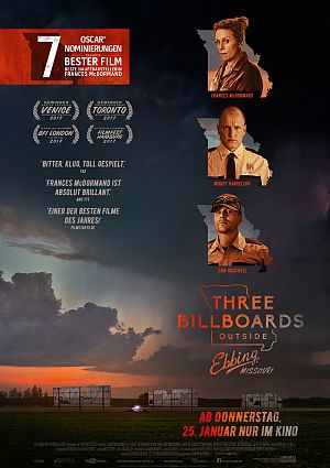 Kritik zu Three Billboards Outside Ebbing, Missouri