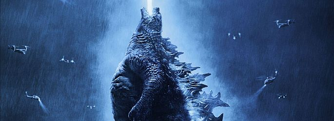 """Godzilla 2 - King of the Monsters"" protzt mit Poster & Bannern"
