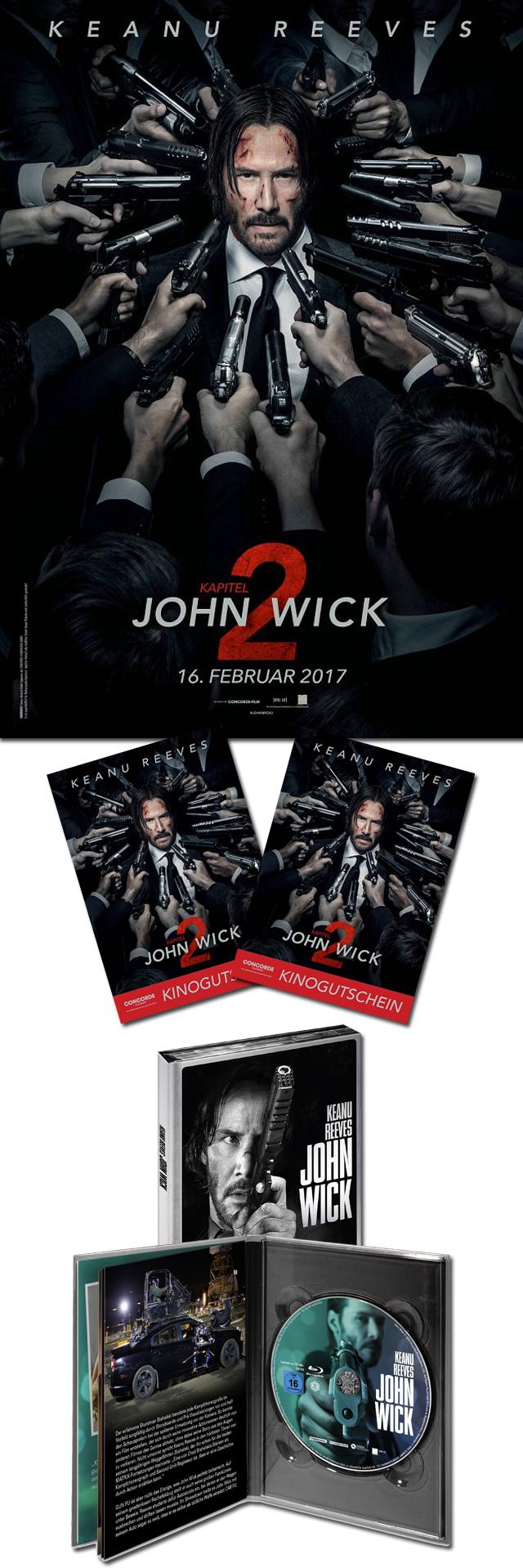 """Bild 1:""""John Wick - Kapitel 2"""" Gewinnspiel - Sei wie John ein Sieger!"""