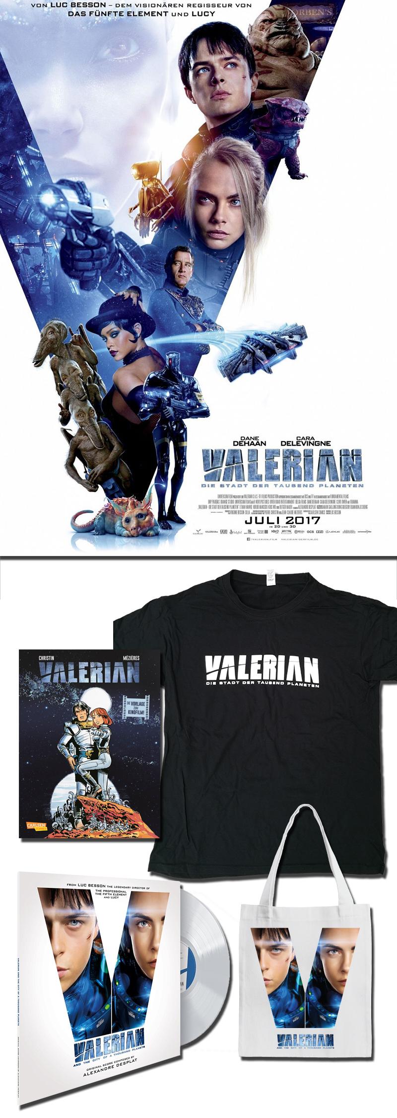 """Bild 1:Galaktische Fanpakete zum """"Valerian""""-Kinostart gewinnen"""