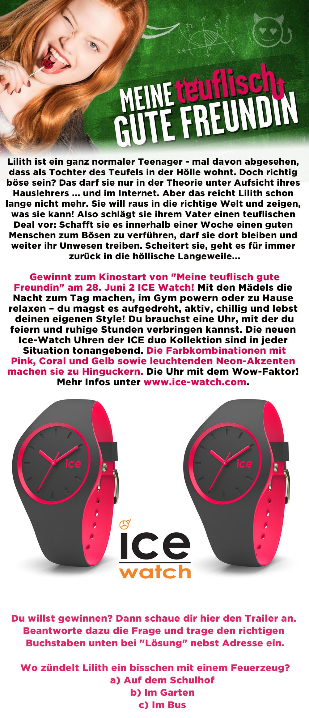 """Bild 1:2 ICE Watch zum Kinostart von """"Meine teuflisch gute Freundin"""" gewinnen"""