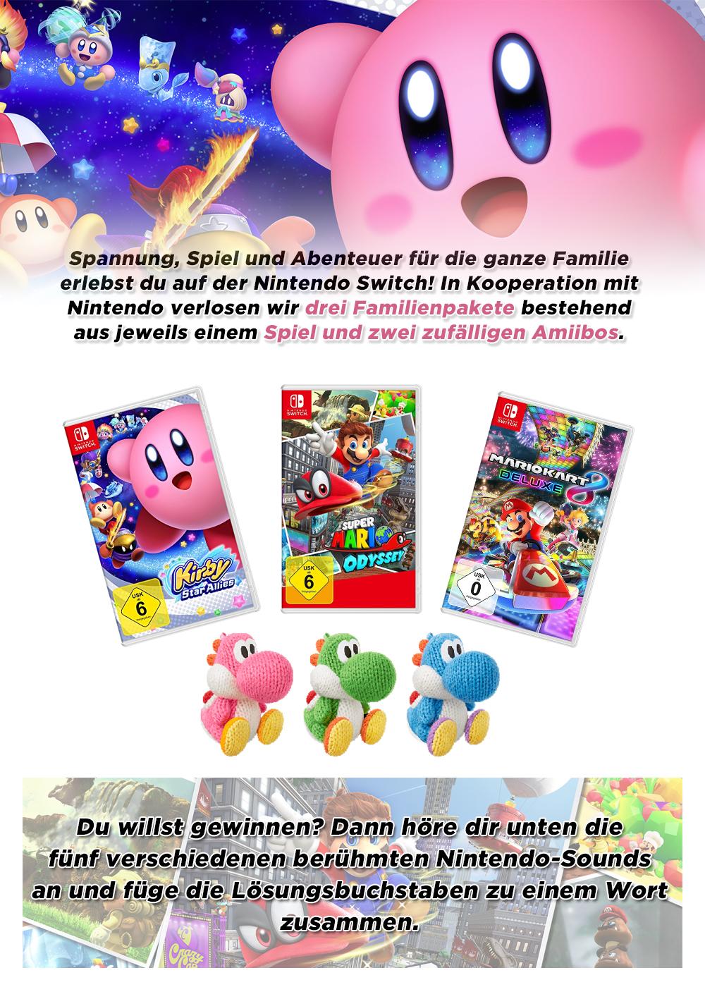 Bild 1:Gewinne 3 Familienpakete für die Nintendo Switch