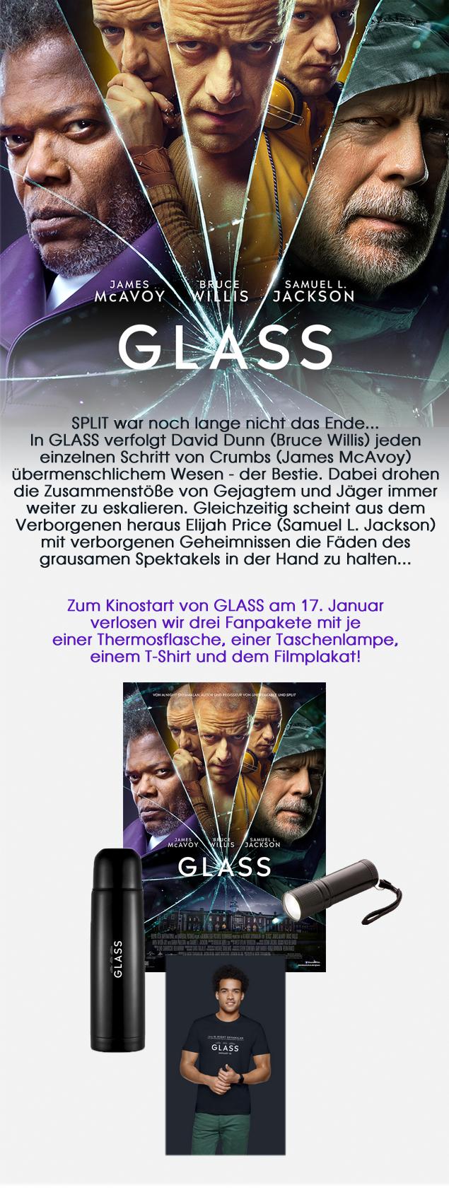 """Bild 1:Drei Pakete im """"Glass""""-Gewinnspiel gewinnen!"""