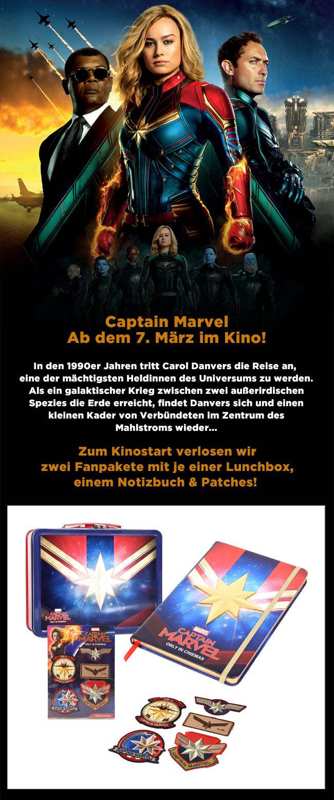 """Bild 1:Für dich, unser """"Captain Marvel""""-Gewinnspiel!"""
