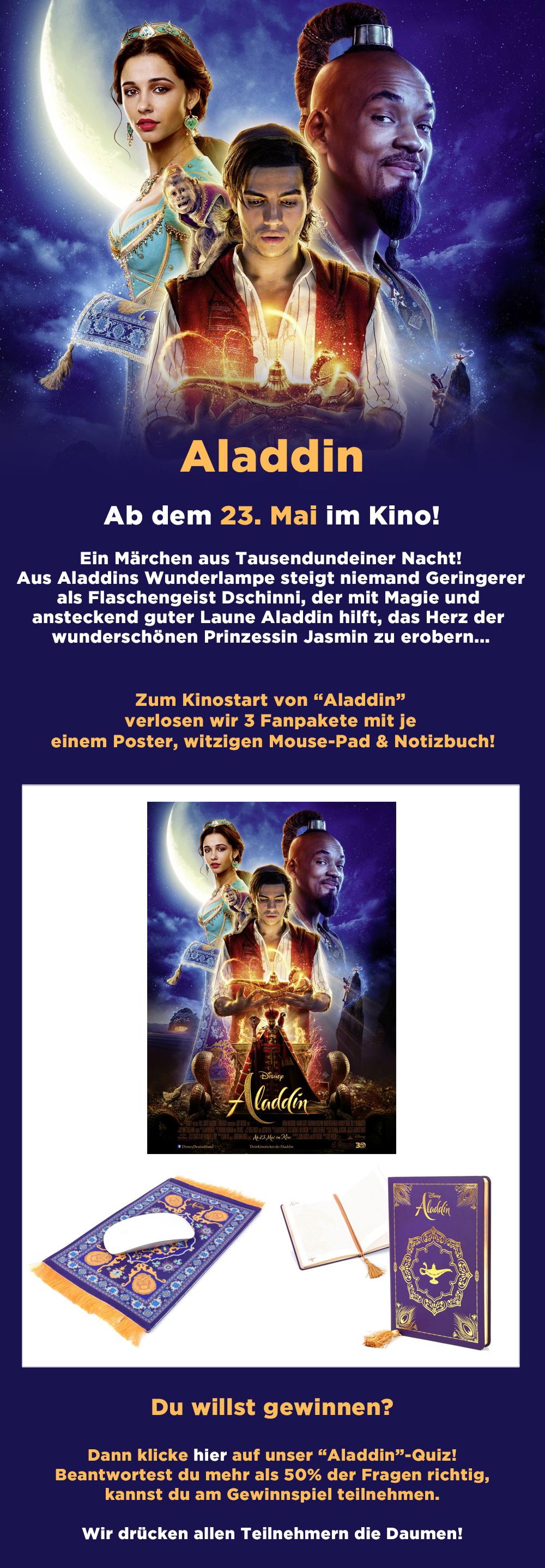 """Bild 1:Zauberhaft gewinnen mit """"Aladdin""""!"""