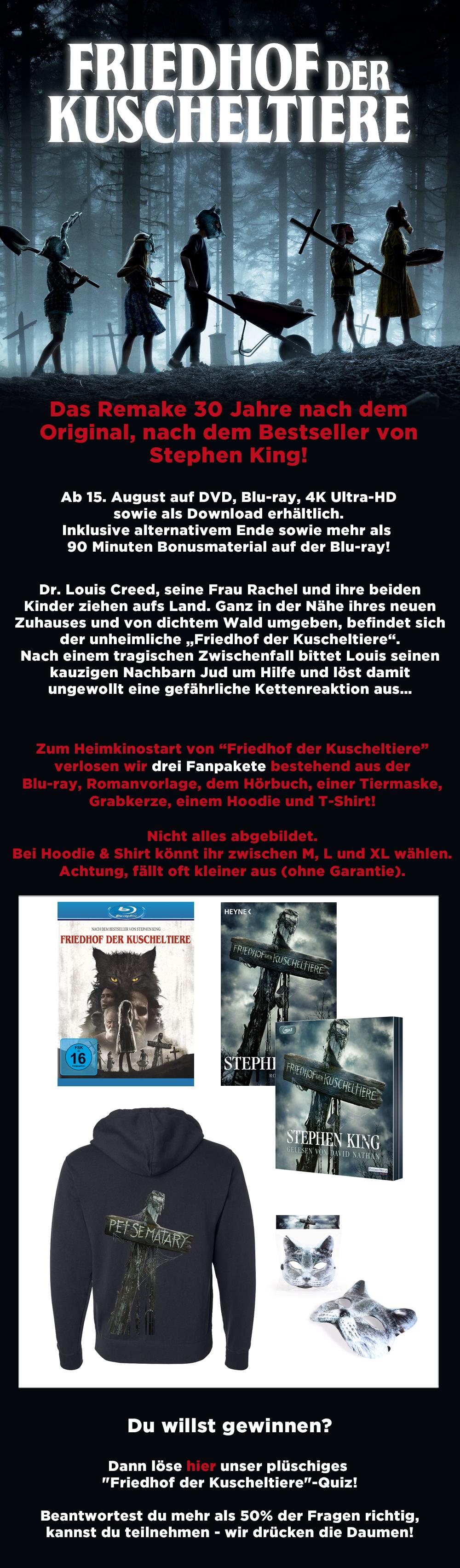 """Bild 1:Gewinnen, nicht gruseln! Unser """"Friedhof der Kuscheltiere""""-Gewinnspiel wartet!"""