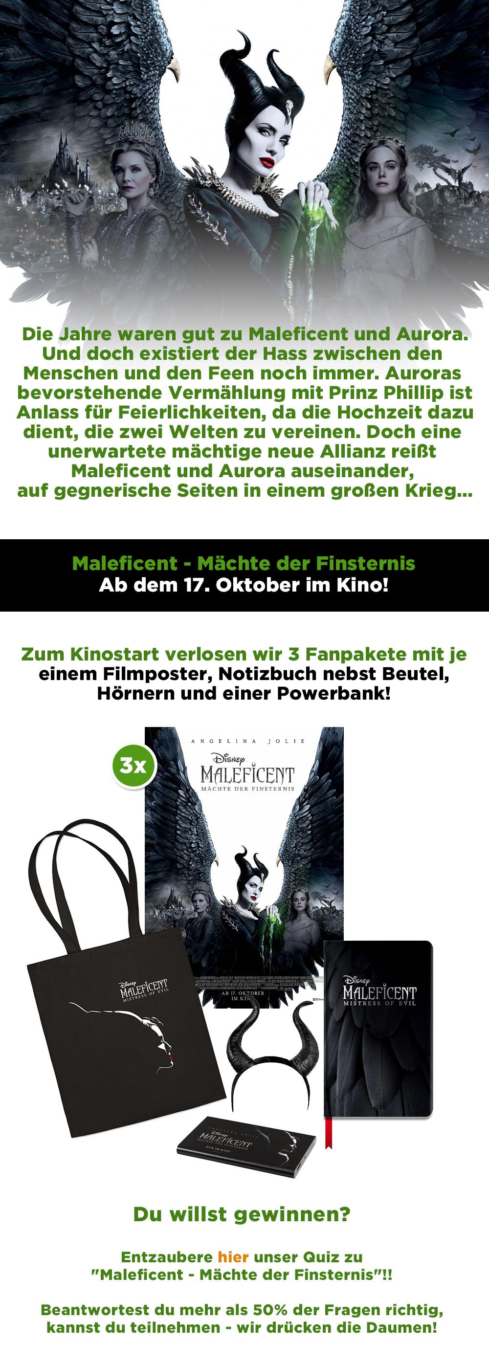 """Bild 1:Entzaubere unser Gewinnspiel zu """"Maleficent - Mächte der Finsternis"""""""