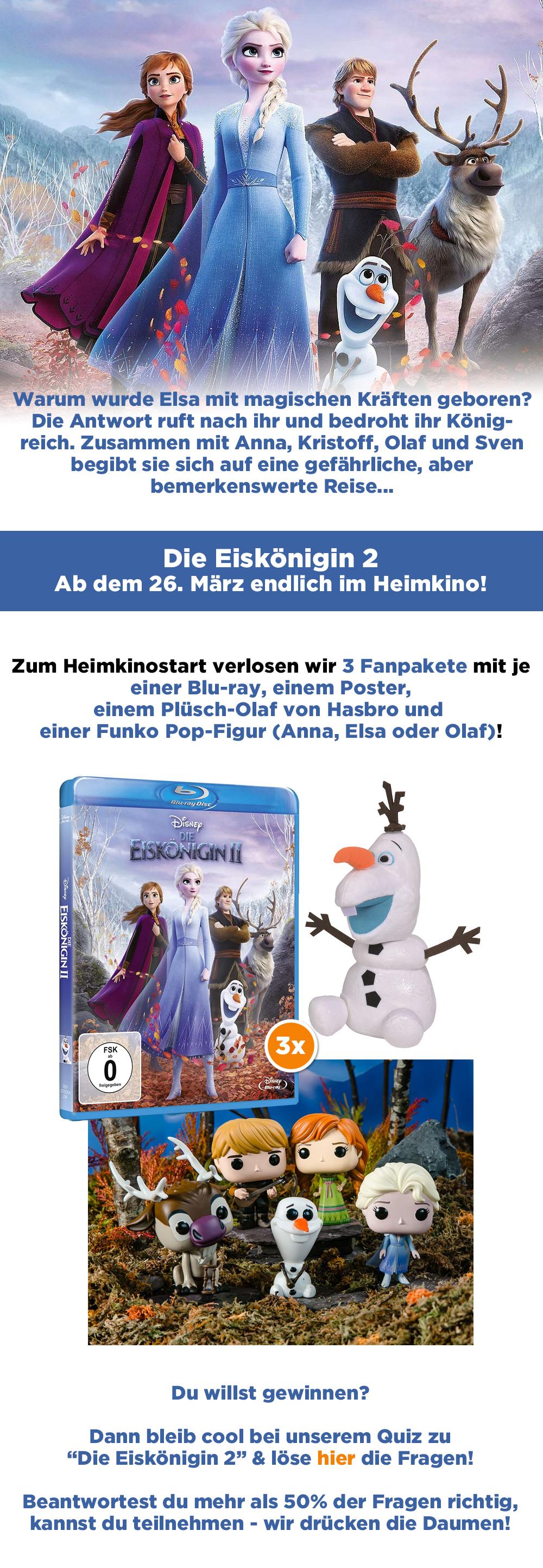 """Bild 1:Gewinne zum Heimkinostart von """"Die Eiskönigin 2""""!"""