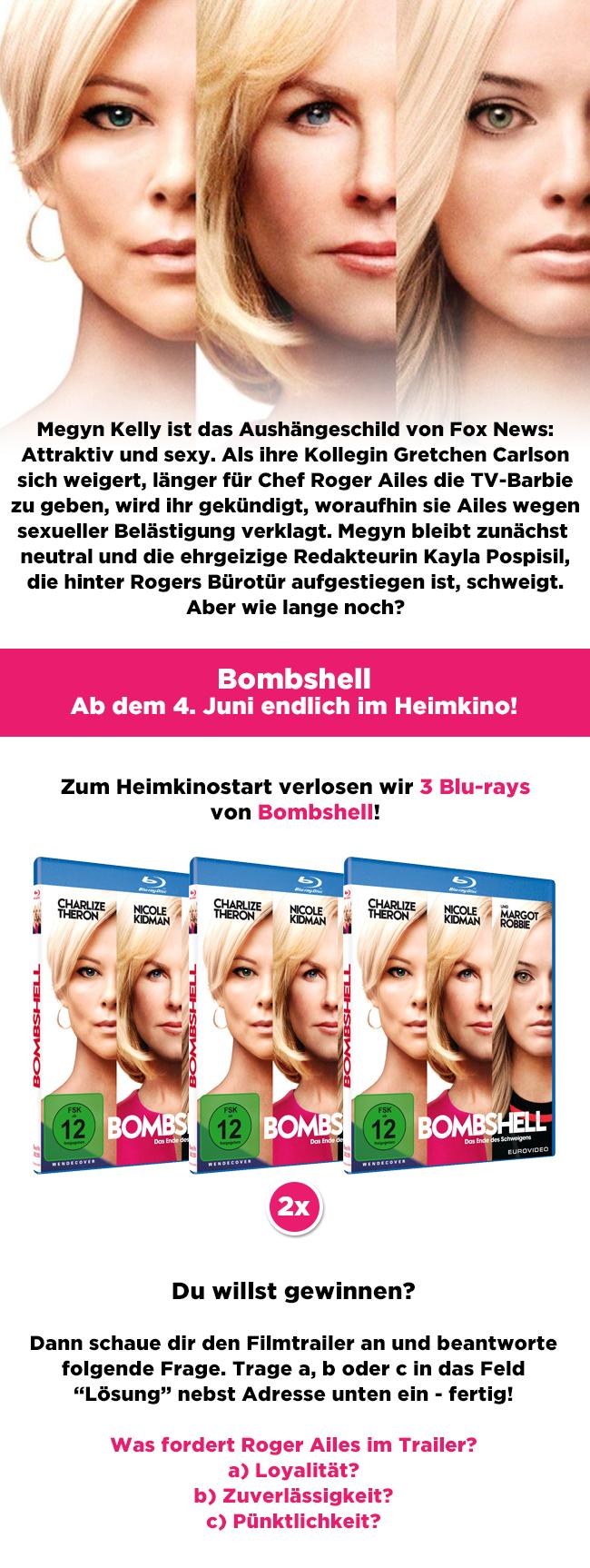 """Bild 1:Gewinne eine Blu-ray von """"Bombshell"""" zum Heimkinostart!"""