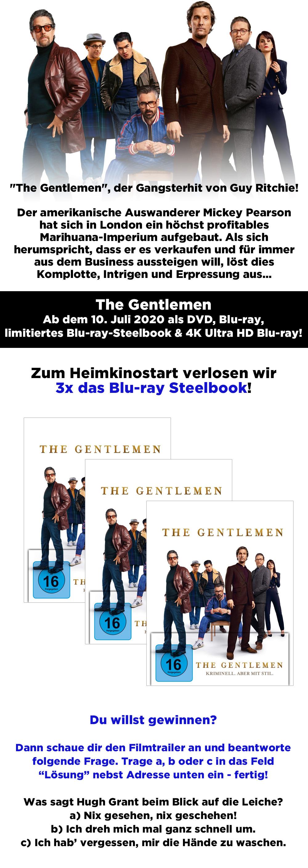 """Bild 1:Gewinne ein Bluray-Steelbook zu """"The Gentlemen""""!"""