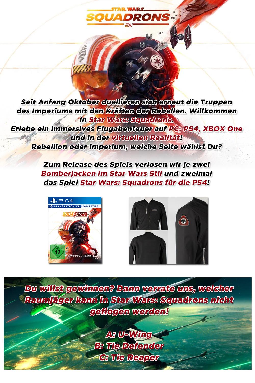 """Bild 1:Gewinne """"Star Wars: Squadrons"""" für die PS4"""