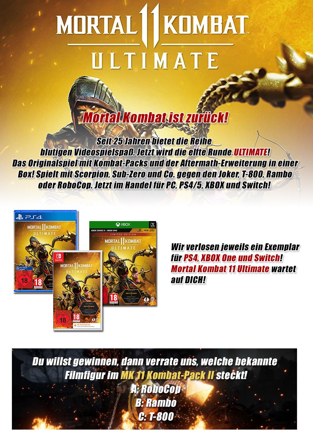 """Bild 1:Gewinne """"Mortal Kombat 11 Ultimate"""" für XBOX, PS4 oder Switch!"""