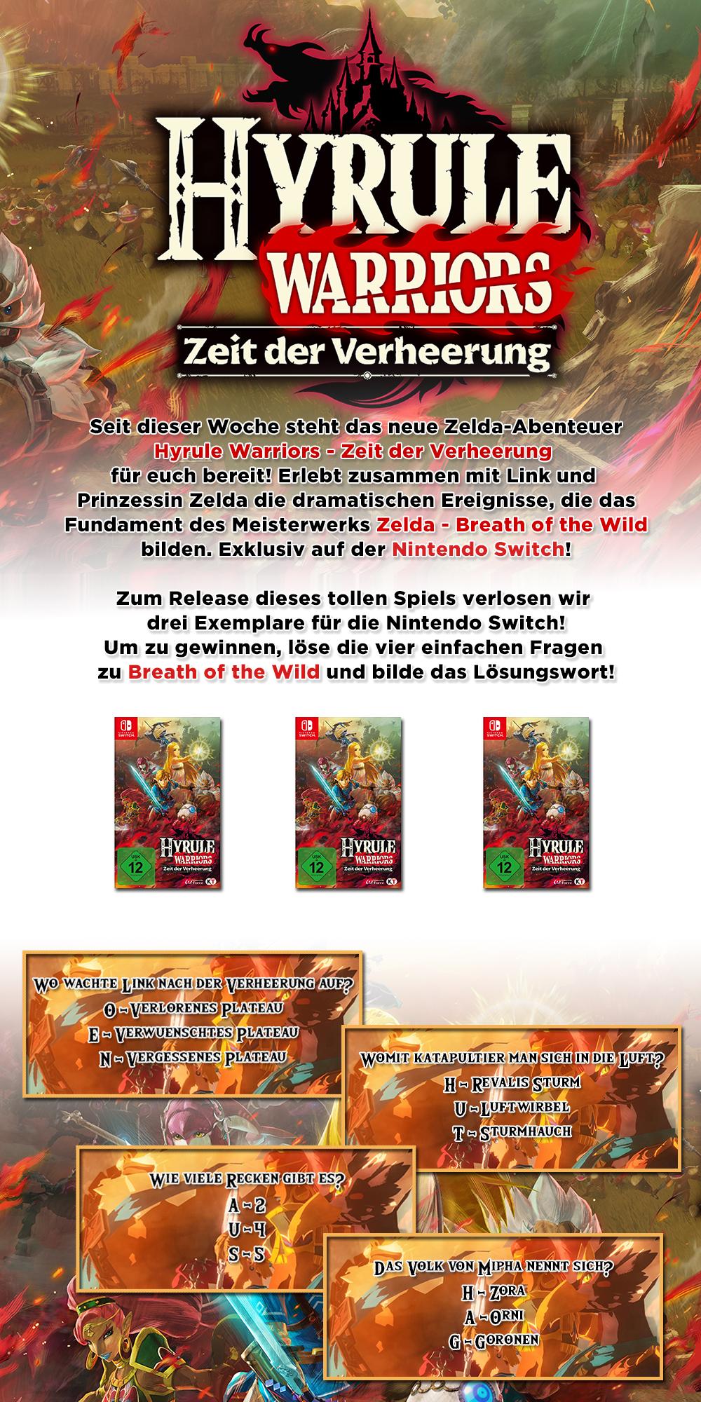 Gewinne Hyrule Warriors Zeit Der Verheerung Fur Die Nintendo Switch Moviejones