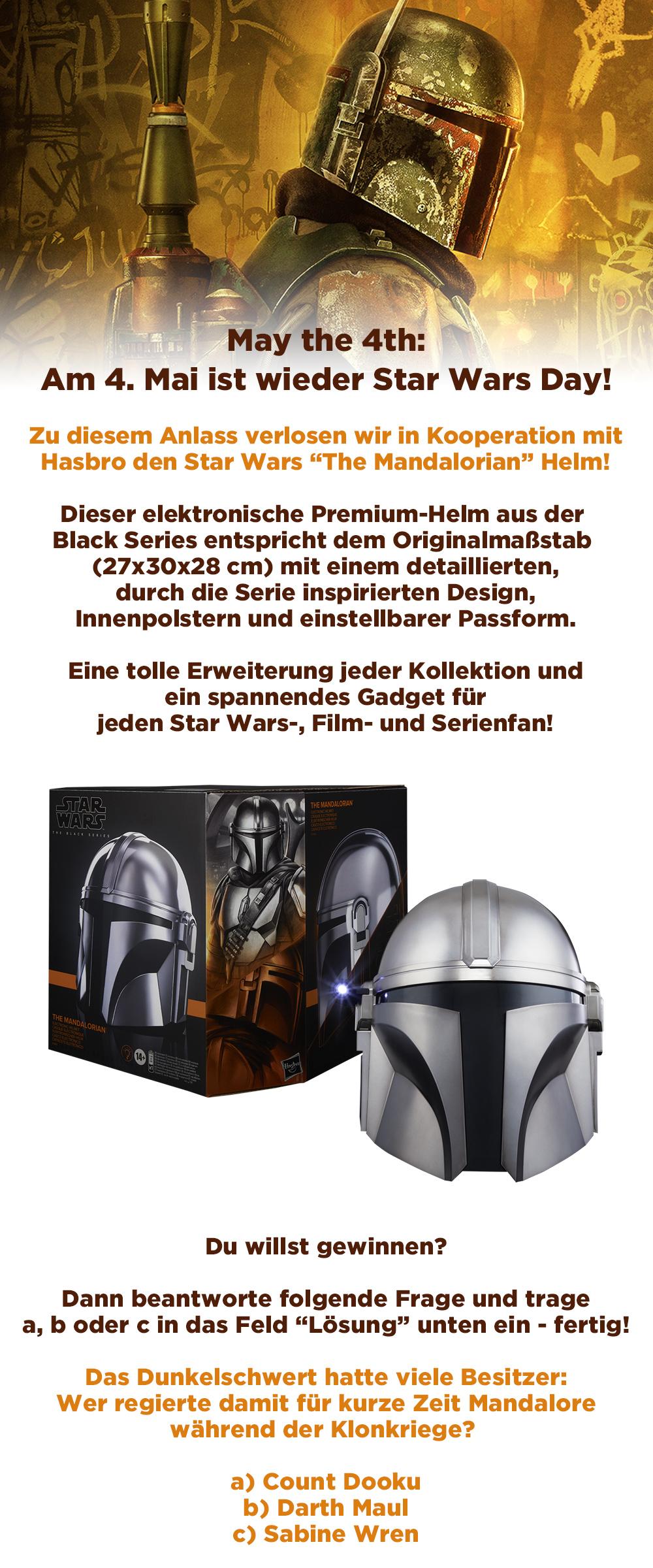 Bild 1:Gewinne den Star Wars The Mandalorian Helm von Hasbro!