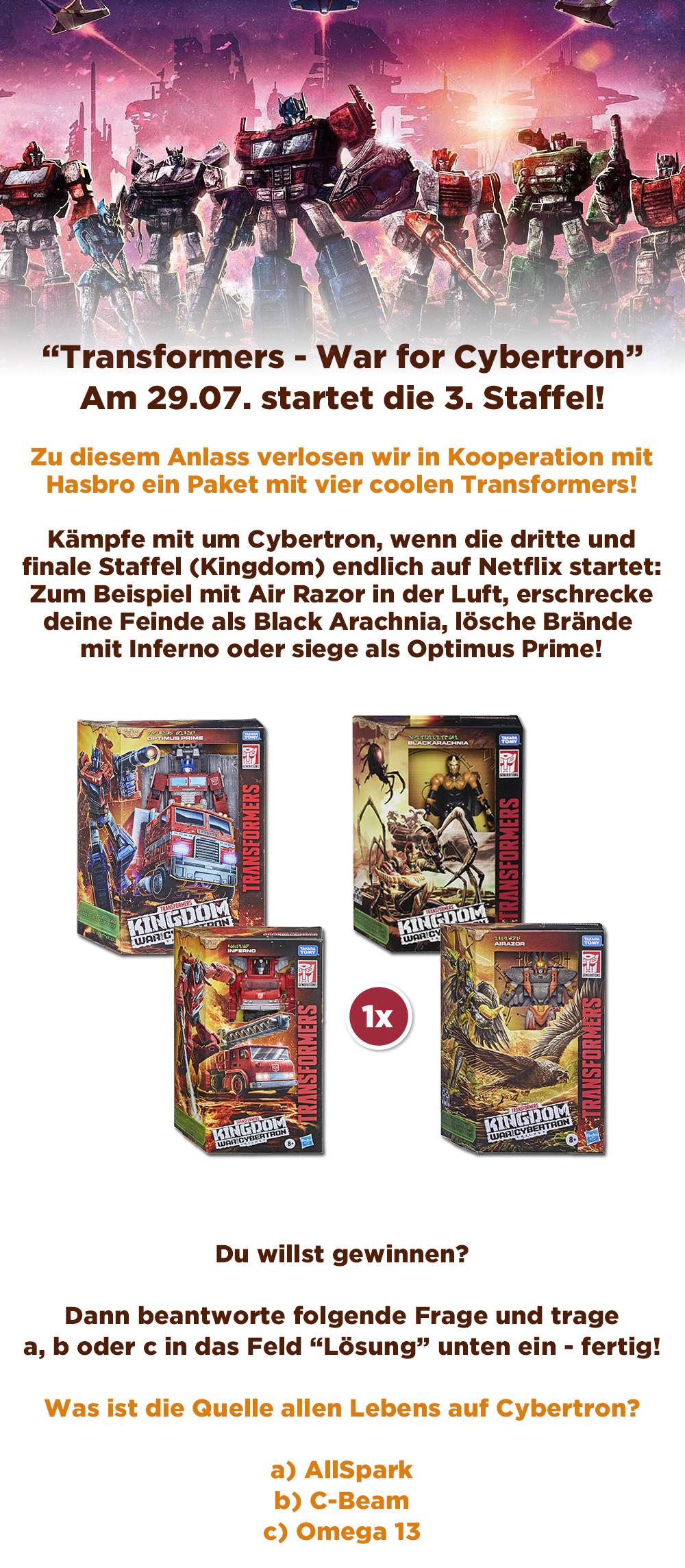 """Bild 1:""""Transformers - War for Cybertron"""": Gewinne 4 gigantische Transformers von Hasbro!"""