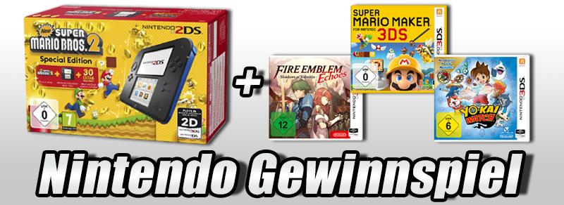 Freizeitspaß: Gewinne den Nintendo 2DS mit sattem Spielepaket!
