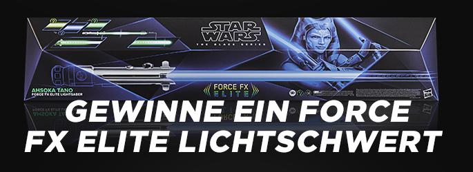 Star Wars-Fans aufgepasst: Gewinnt das geniale Force FX Elite Lichtschwert von Hasbro!