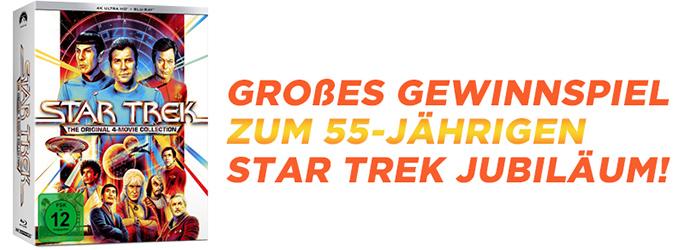 """Gewinnt mit uns die """"Star Trek I-IV - 4-Movie Collection"""" zum 55-jährigen Jubiläum!"""