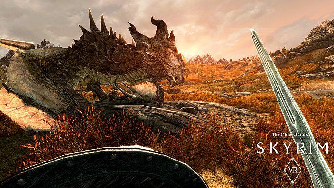 """Bild 1:Der MJ-Spieletipp: Imposante Drachen mit """"Skyrim VR"""""""
