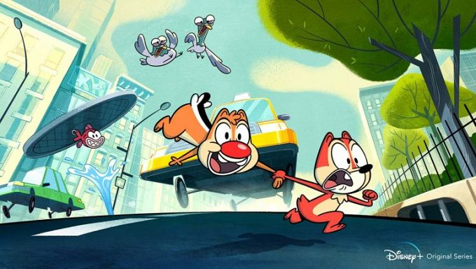 """Bild 1:Disney+ animiert: """"Chip und Chap""""-Reboot, """"Monsters at Work""""-Logo"""