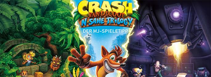 """Der MJ-Spieletipp: 3-facher Beuteldachs in """"Chrash Bandicoot N.Sane Trilogy"""""""