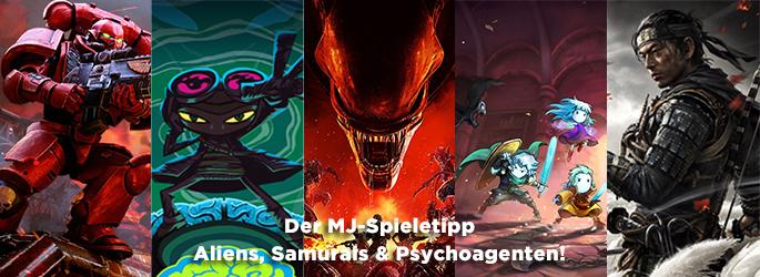 Der MJ-Spieletipp: Aliens, Samurais und Space Marines