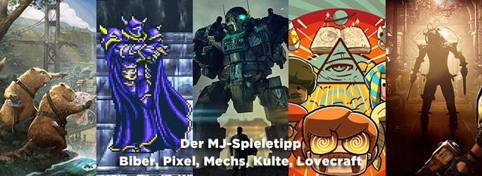 Der MJ-Spieletipp: Mechs, Oktopuskulte, Resident Evil-Flair und Biber!
